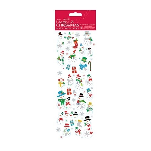 Christmas Stickers - Jolly Snowman