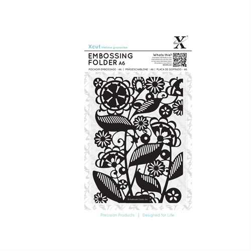 A6 Embossing Folder - Folk Florals