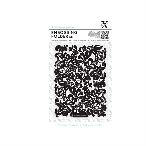 A6 Embossing Folder - Sweeping Florals