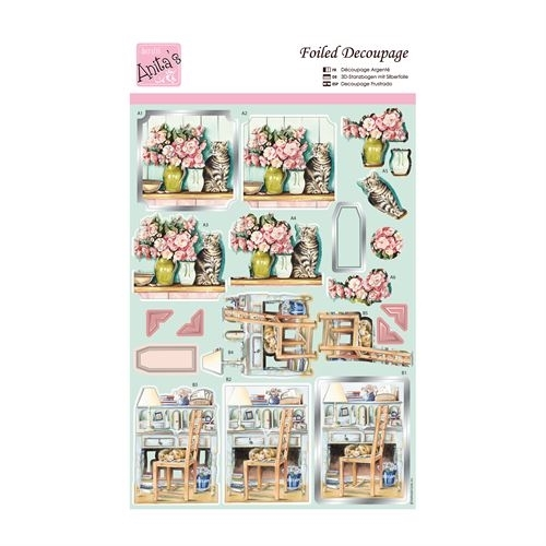 Foiled Decoupage - Cosy Cats