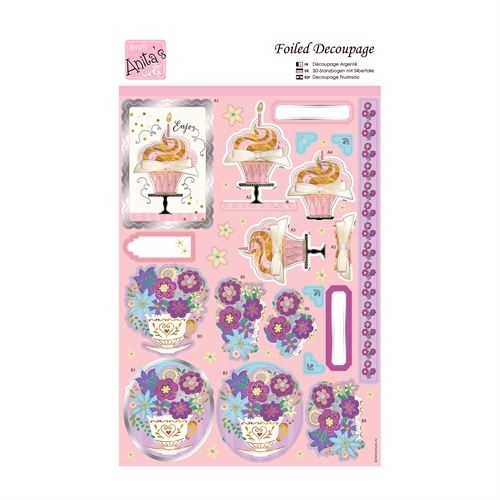 Foiled Decoupage - Floral Cupful