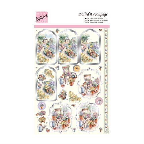 Foiled Decoupage - Country Cottage