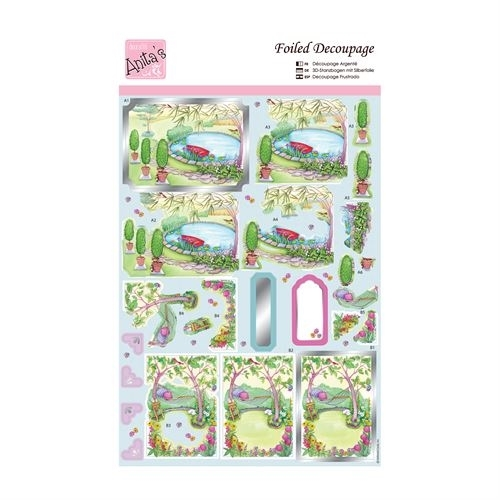 Foiled Decoupage - Relax in the Garden