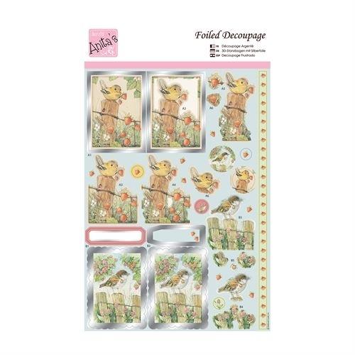 Foiled Decoupage - Spring Birds