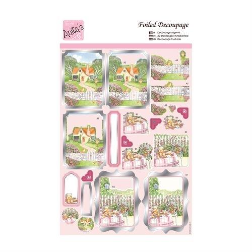 Foiled Decoupage - Springtime Cottage