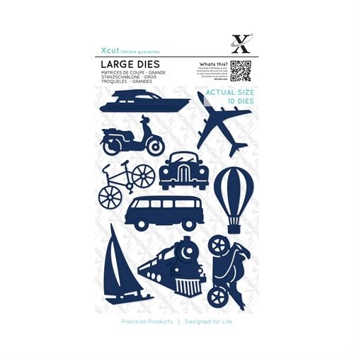 Large Dies (10pcs) - Planes, Trains & Automobiles