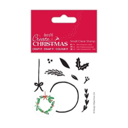 Small Clear Stamps - Christmas Wreath