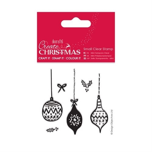 Small Clear Stamps - Baubles
