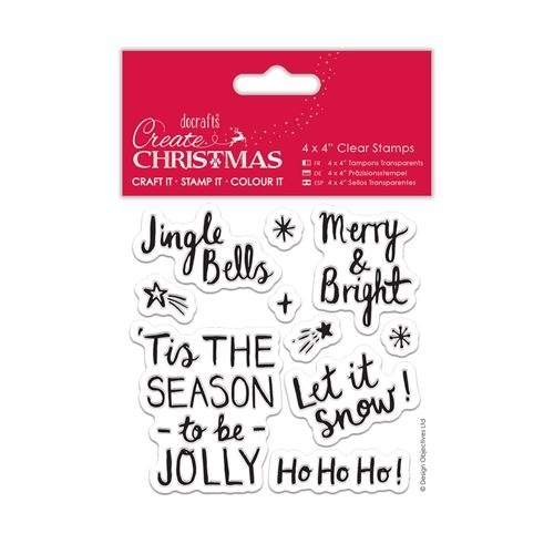"4 x 4"" Clear Stamp - Contemporary Sentiments"