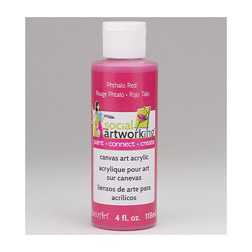 Canvas Artist Acryllics, Phthalo Red