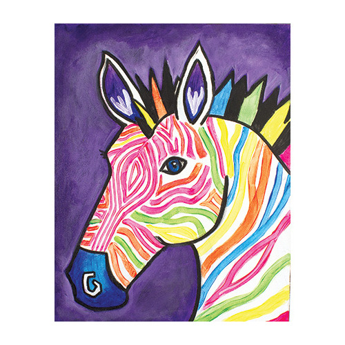Pattern Packet Electric Zebra