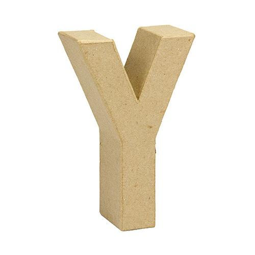 Paper Mache Letter Y