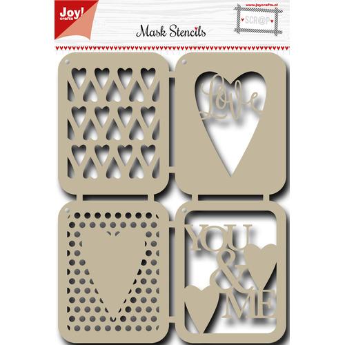 Scr@p stencil - Liefde