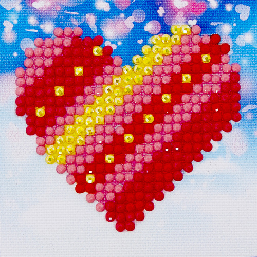 DDS.007 Diamond Dotz® - 7x7cm - PatchWork Heart