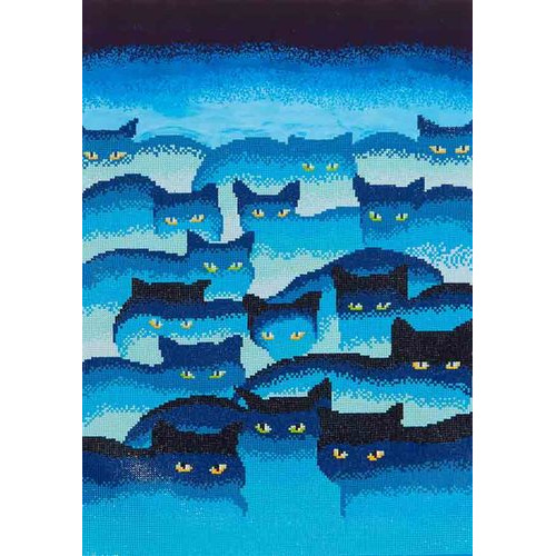 DD12.015 Diamond Dotz® - 47x66cm - Smokey Mountain Cats