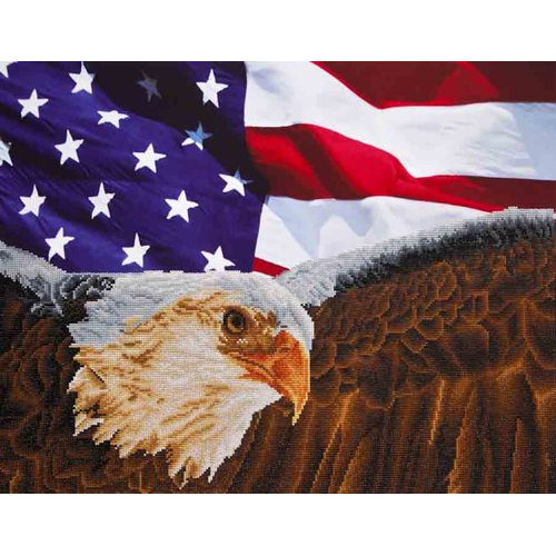 DD13.003 Diamond Dotz® - 71x56cm - Bald Eagle with American Flag