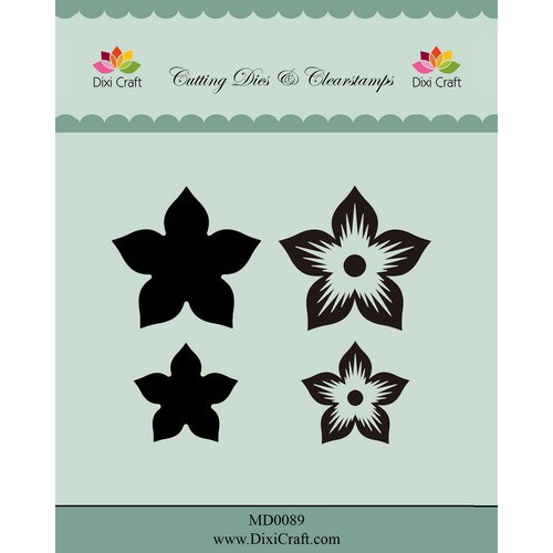 Dixi die & clearstamp Flower