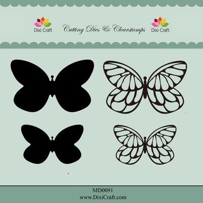 Dixi die & clearstamp Butterflies