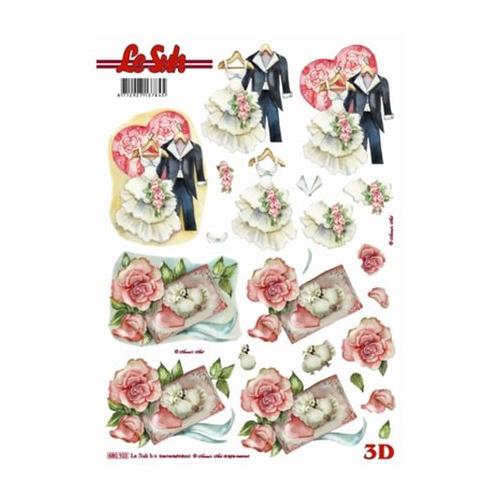 3D Stansvel trouwkleding