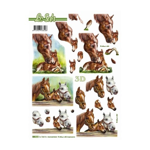 3D Stansvel paarden