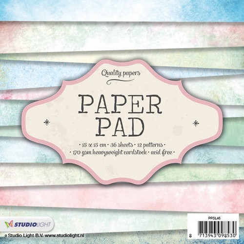 Studio Light Paper pad 36 vel 12 designs nr 46 PPSL46 15x15cm (05-17)
