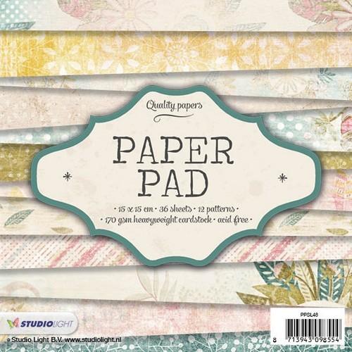 Studio Light Paper pad 36 vel 12 designs nr 48 PPSL48 15x15cm (05-17)