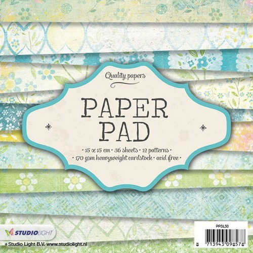Studio Light Paper pad 36 vel 12 designs nr 50 PPSL50 15x15cm (05-17)