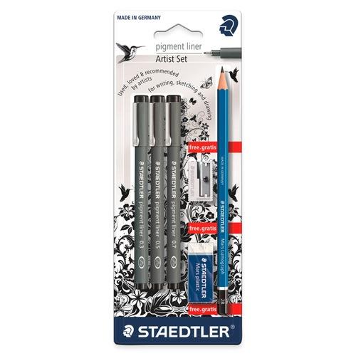 pigment liner fineliner - blister 3 st + promo