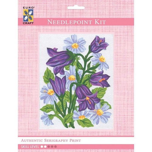 3041K - Eurocraft NEEDLEPOINT KIT 14x18cm Bluebells