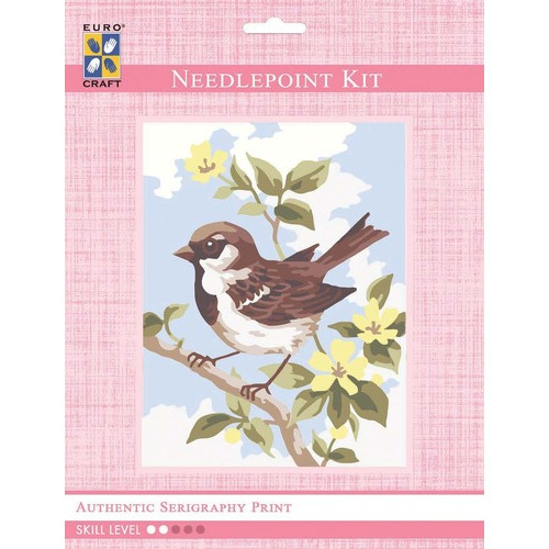 3315K - Eurocraft NEEDLEPOINT KIT 14x18cm Brown Wren