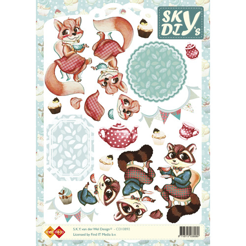 3D Knipvel - Sky - Foxy Lady and Foxy Men
