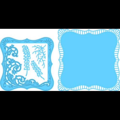 Marianne D Creatable Anja`s vierkant met swirls LR0470 16,0x18,5cm (06-17)