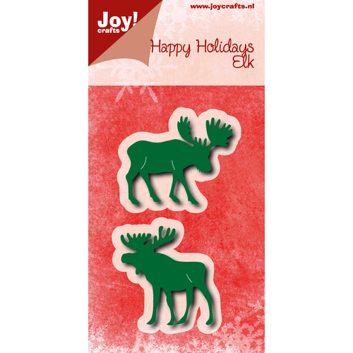 Snijstencils - Happy Holidays - Elanden