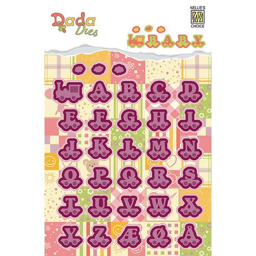 DADA Baby Dies: Alphabet train letters