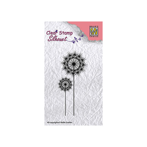 Clear stamps flower silhouettes flower-8