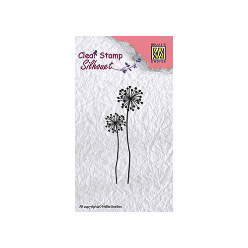 Clear stamps flower silhouettes flower-9