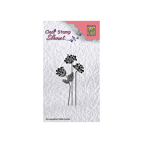 Clear stamps flower silhouettes flower-10
