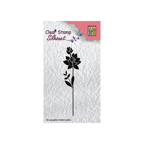 Clear stamps flower silhouettes flower-11