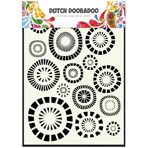 Dutch Doobadoo Dutch Mask Art stencil cirkels A5 470.715.107 (06-17)