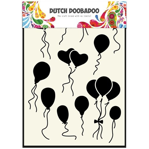 Dutch Doobadoo Dutch Mask Art stencil Ballonnen normaal-hart  A5 470.715.108 (06-17)