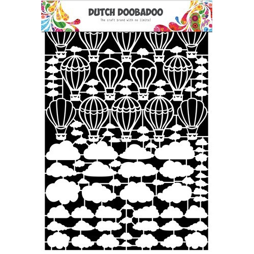 Dutch Doobadoo Dutch Paper Art Luchtballon-wolken A5 472.948.048 (06-17)