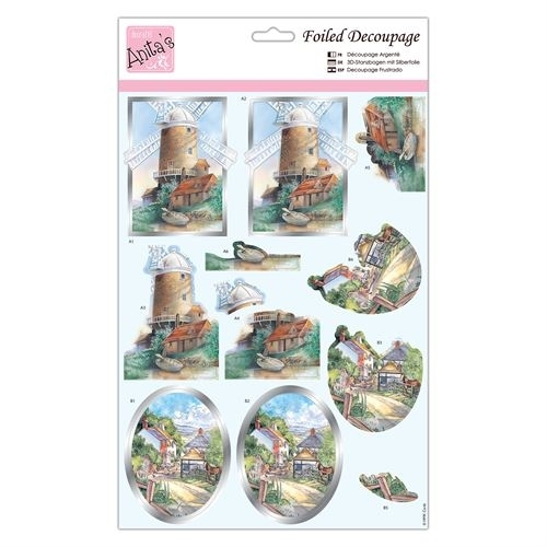 Foiled Decoupage - Country Walks