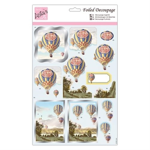 Foiled Decoupage - Birthday Balloons