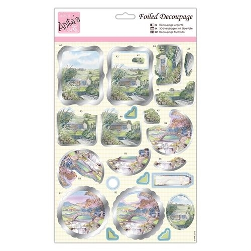 Foiled Decoupage - Scenic Views