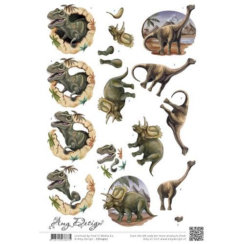 3D Knipvel  Amy Design  Dinosauriërs