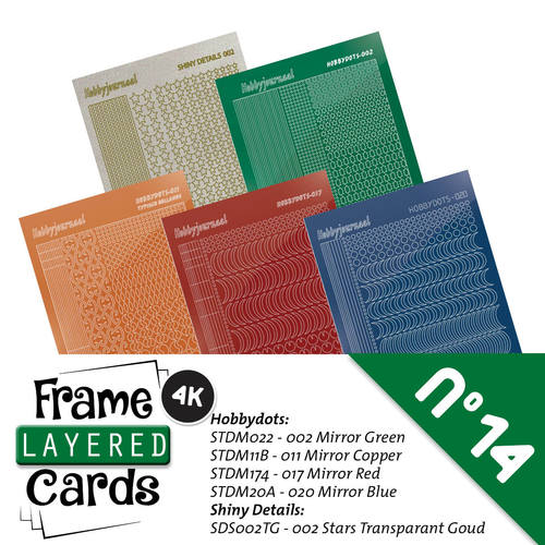 Stickerset voor framed cards 14 A6