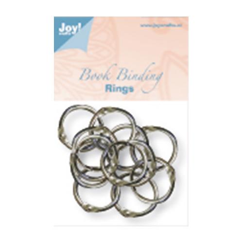 (12) Boekbinders-ringen zilver