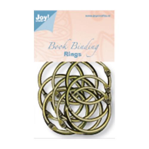 (12) Boekbinders-ringen antiek koper