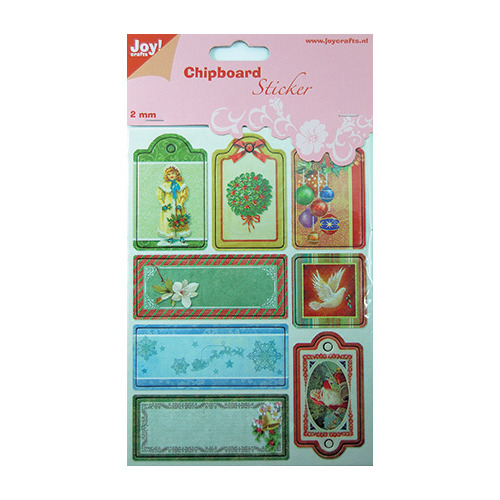 Chipboard Sticker, Kerst
