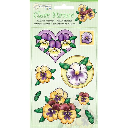MRJ Clear stamps violets